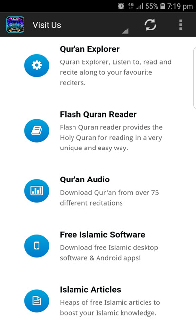 Multi Quran Radio - 75 Qur'an Radio Stations